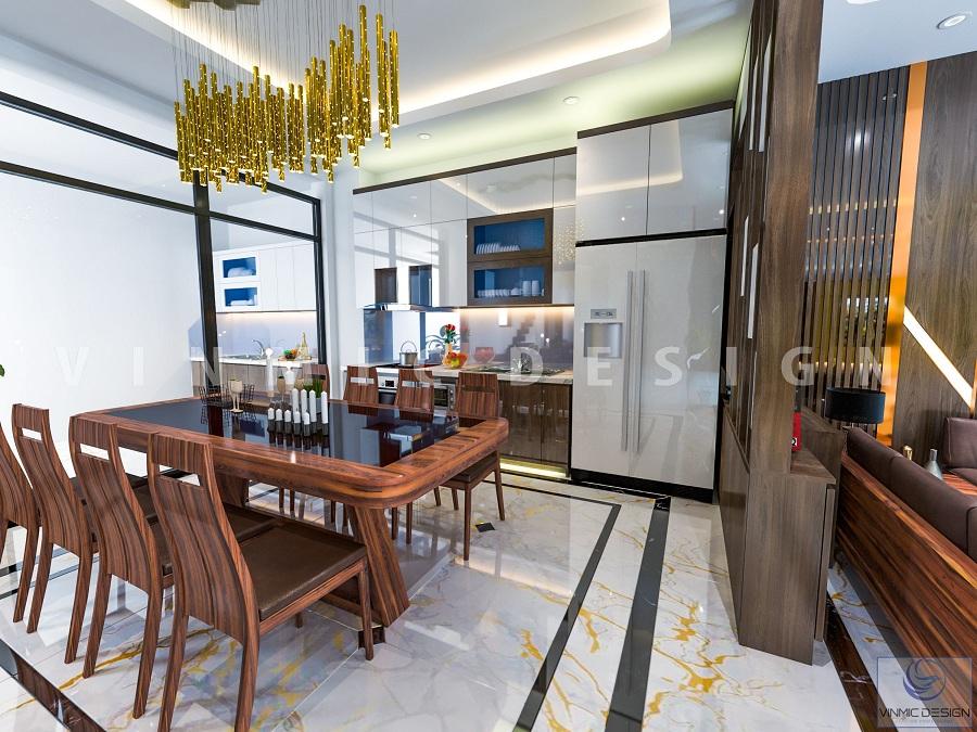 Thiết kế phòng bếp biệt thự Vinhomes Marina Hải Phòng