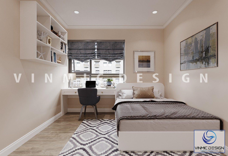 Thiết kế nội thất phòng ngủ với đồ trang trí nội thất đẹp cho chung cư Imperia Sky Garden