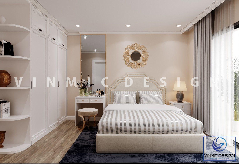 Thiết kế phòng ngủ phong cách tân cổ điển tại chung cư Imperia Sky Garden