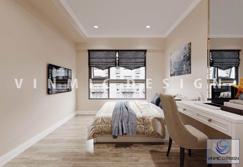 Thiết kế nội thất phòng ngủ tại căn hộ Imperia Sky Garden