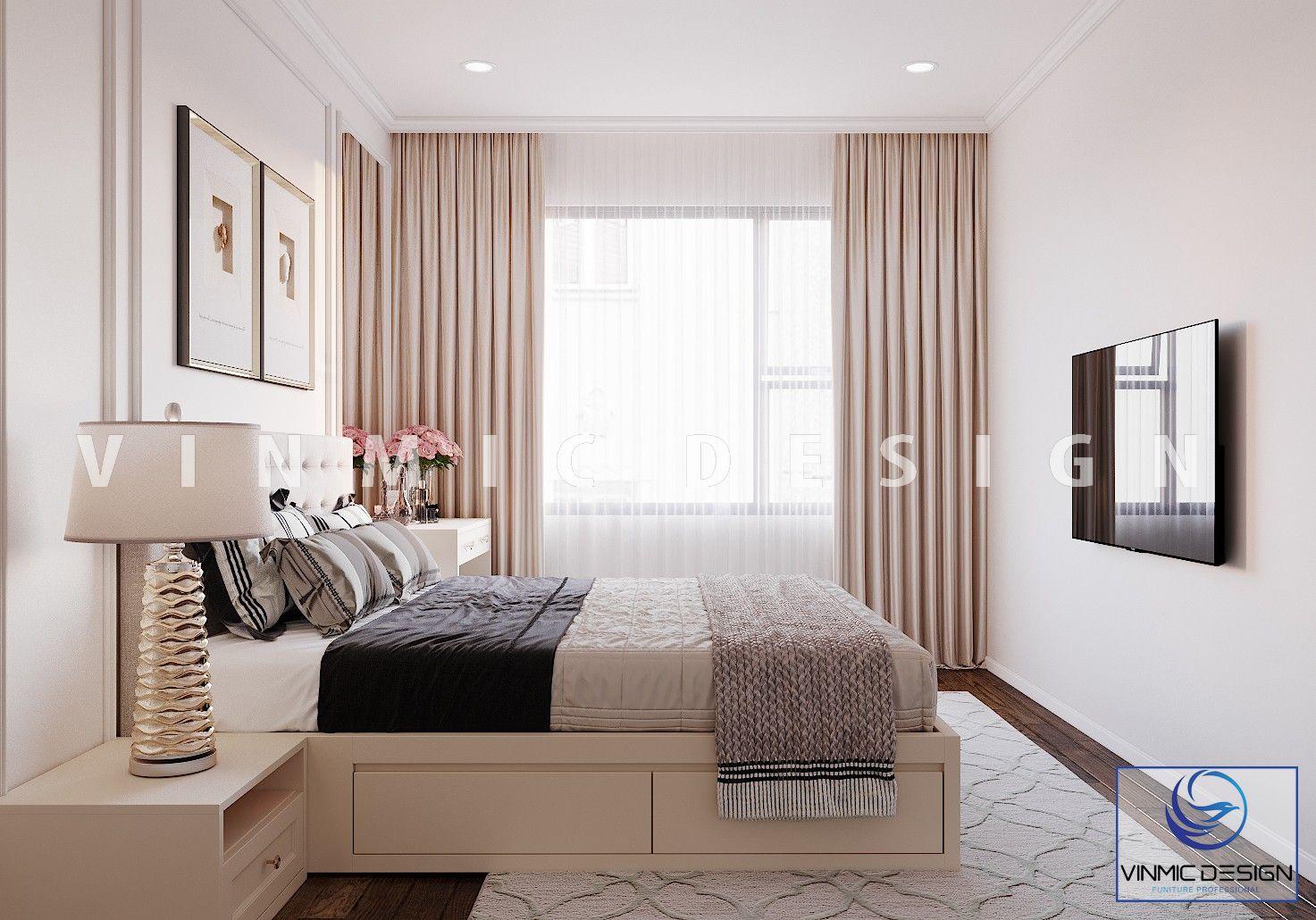 Thiết kế nội thất phòng ngủ sang trọng tại chung cư Iris Garden