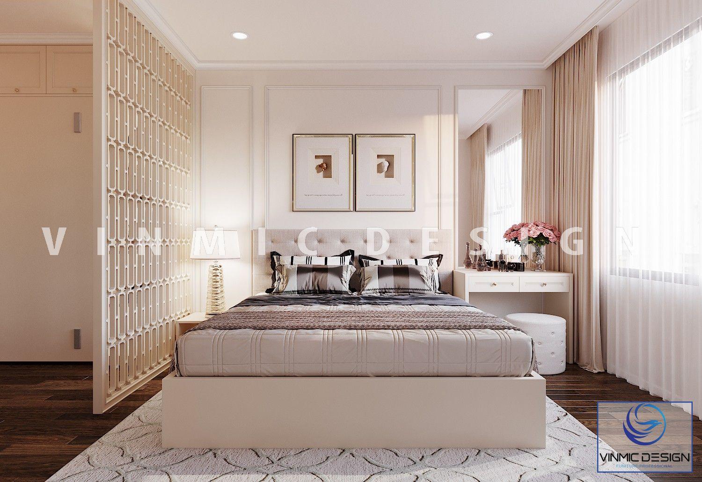 Thiết kế nội thất phòng ngủ phong cách tân cổ điển sang trọng tại chung cư Iris Garden