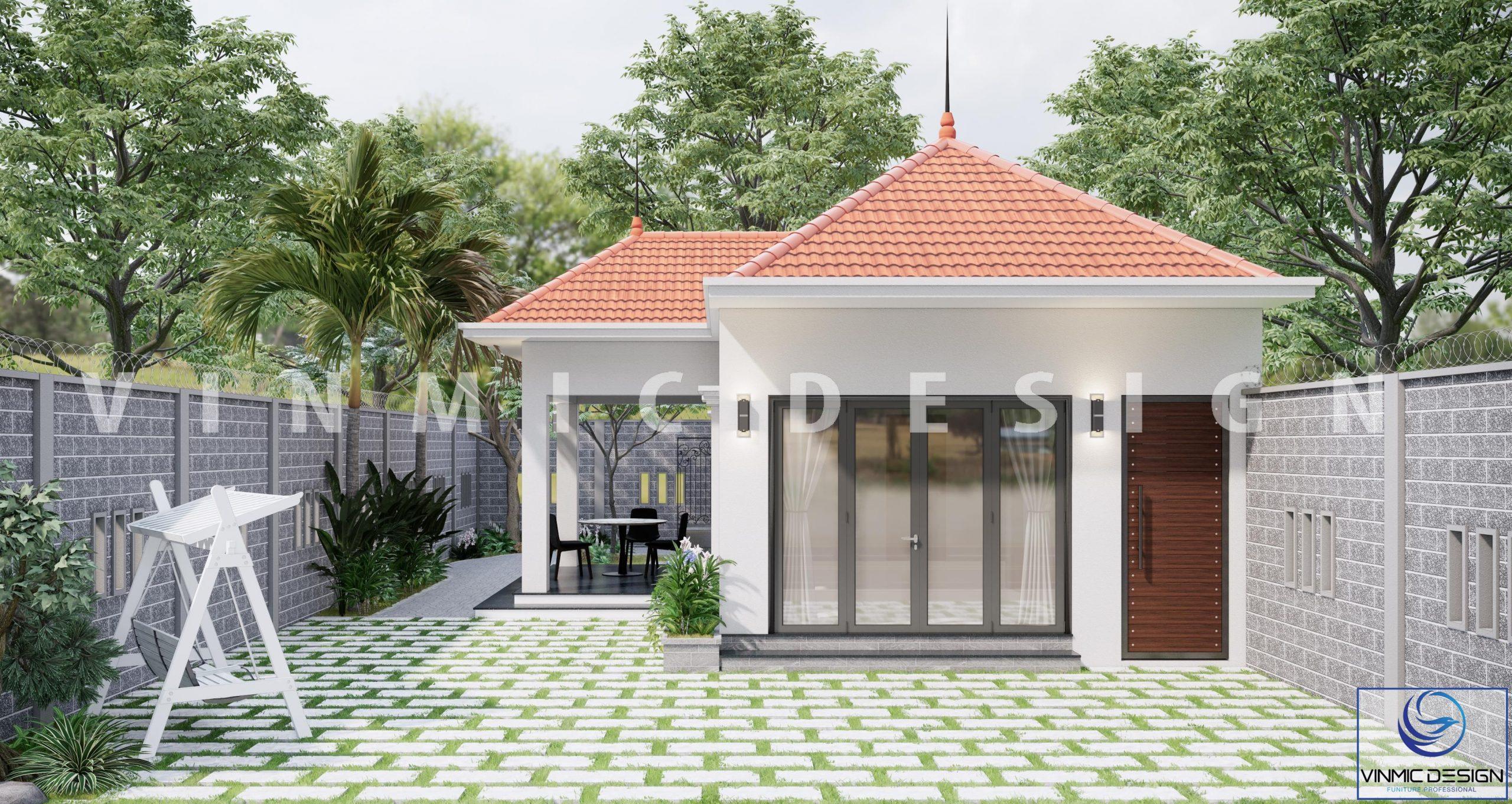 Thiết kế ngoại thất nhà vườn yên bình tại phố Kim Sơn – Ninh Bình