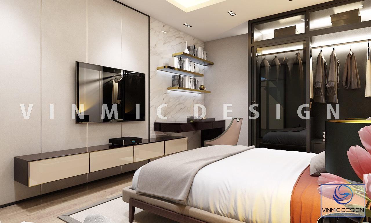 Một góc khác của phòng ngủ căn hộ anh Trọng
