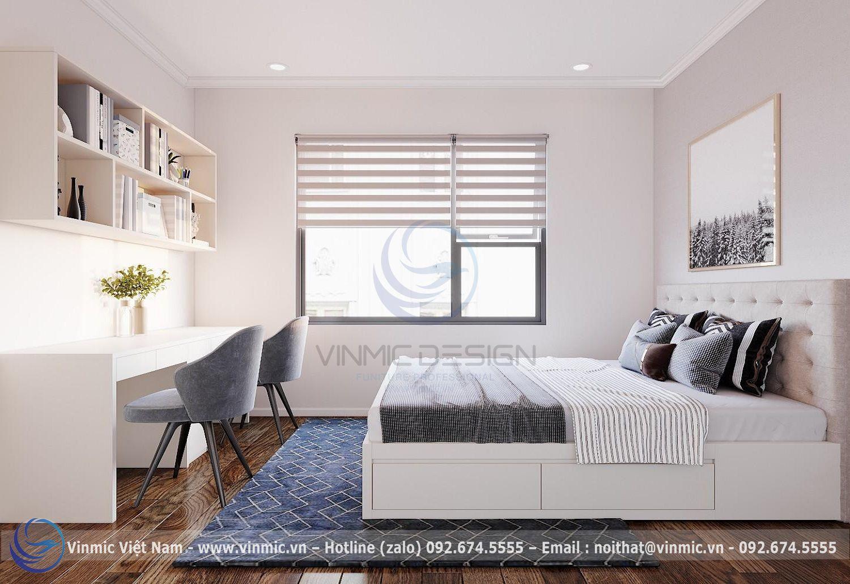 Thiết kế nội thất phòng ngủ đơn giản, hiện đại