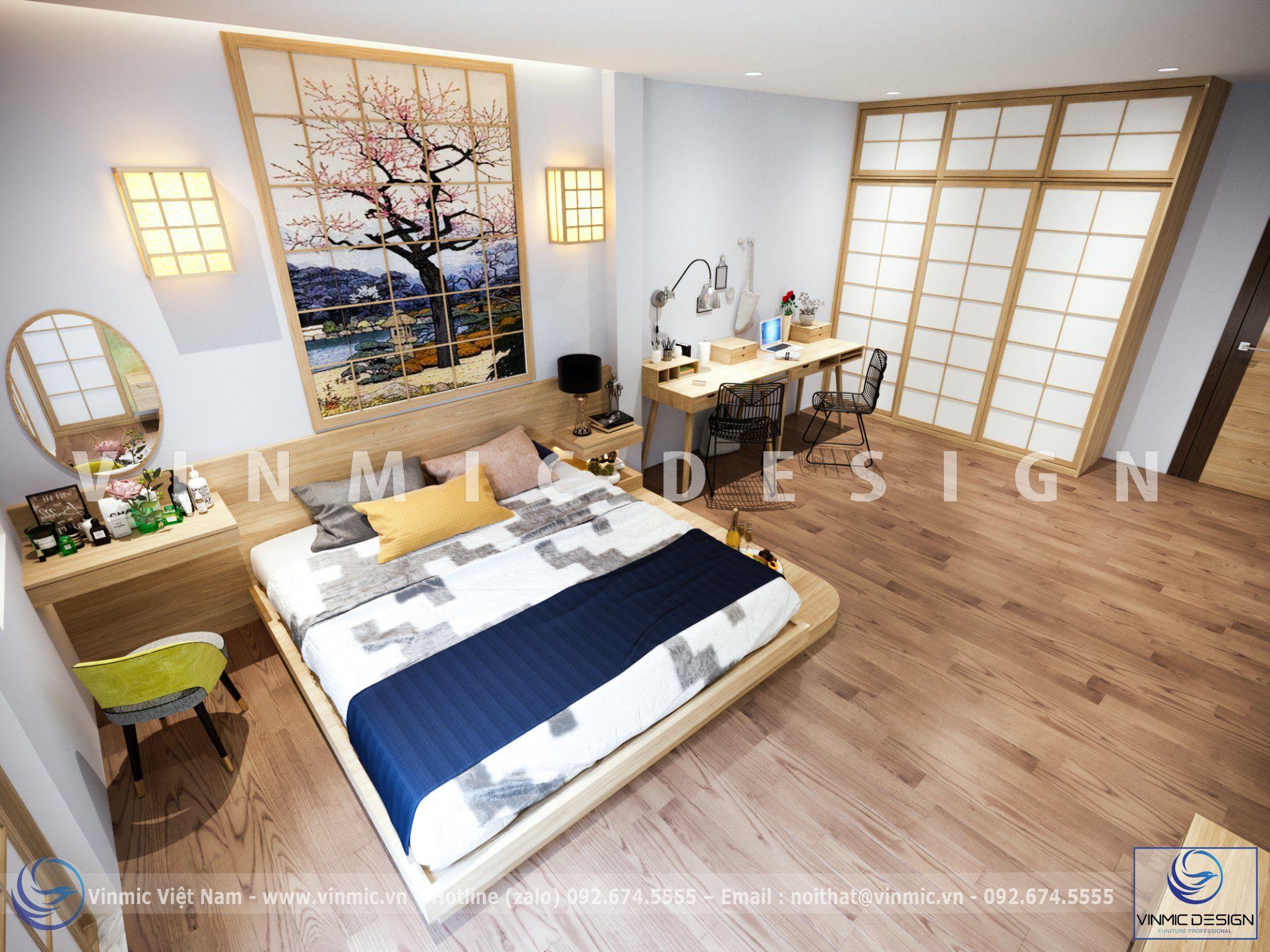 Thiết kế nội thất đẹp phong cách Nhật Bản