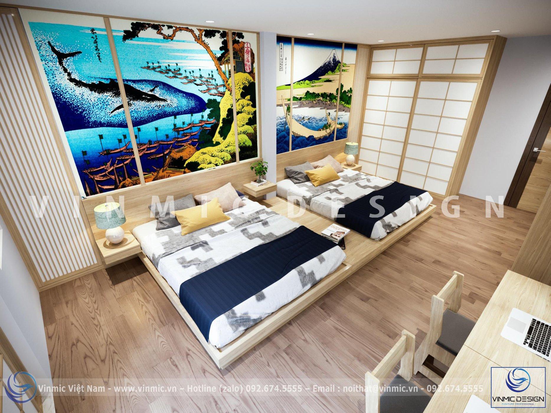 Thiết kế nội thất căn hộ theo phong cách Nhật Bản