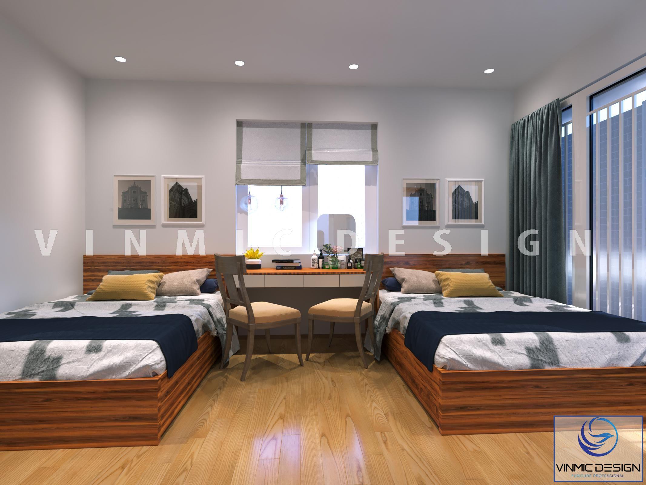 Thiết kế nội thất phòng ngủ đẹp tại phố Kim Sơn - Ninh Bình