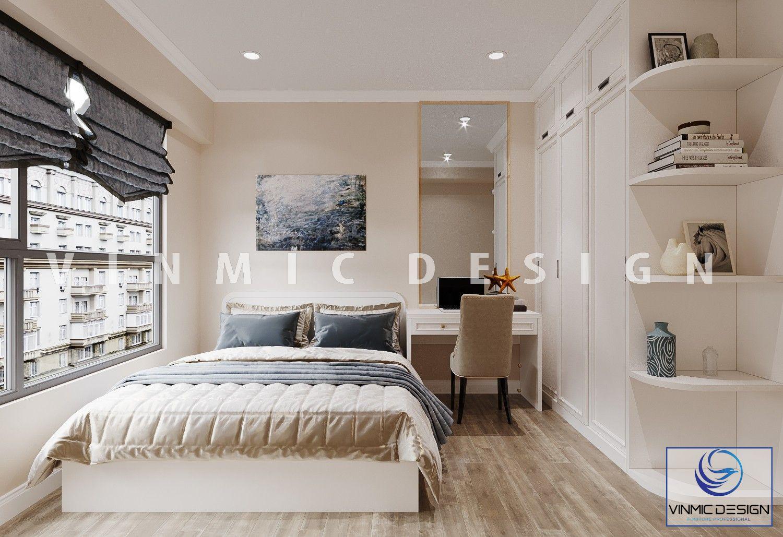 Thiết kế nội thất phòng ngủ sang trọng, chất liệu nỉ cao cấp và gỗ công nghiệp MDF lõi xanh chống ẩm