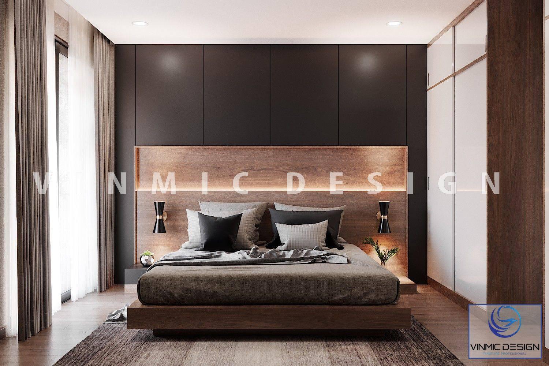 Thiết kế nội thất phòng ngủ thiên hướng gỗ, màu sắc đơn giản sang trọng
