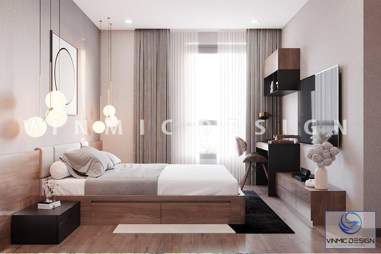 Thiết kế nội thất phòng ngủ hiện đại, tối ưu công năng và tiện nghi khi sử dụng