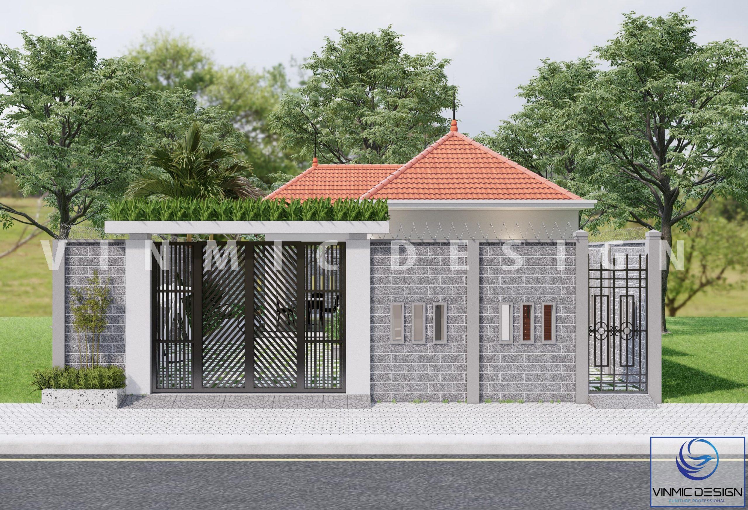 Ngoại cảnh của căn nhà vườn tại phố Kim Sơn - Ninh Bình