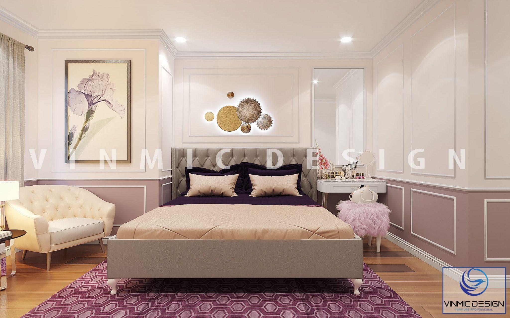 Thiết kế nội thất phòng ngủ đẹp cho quý cô luôn biết cách yêu chiều bản thân mình