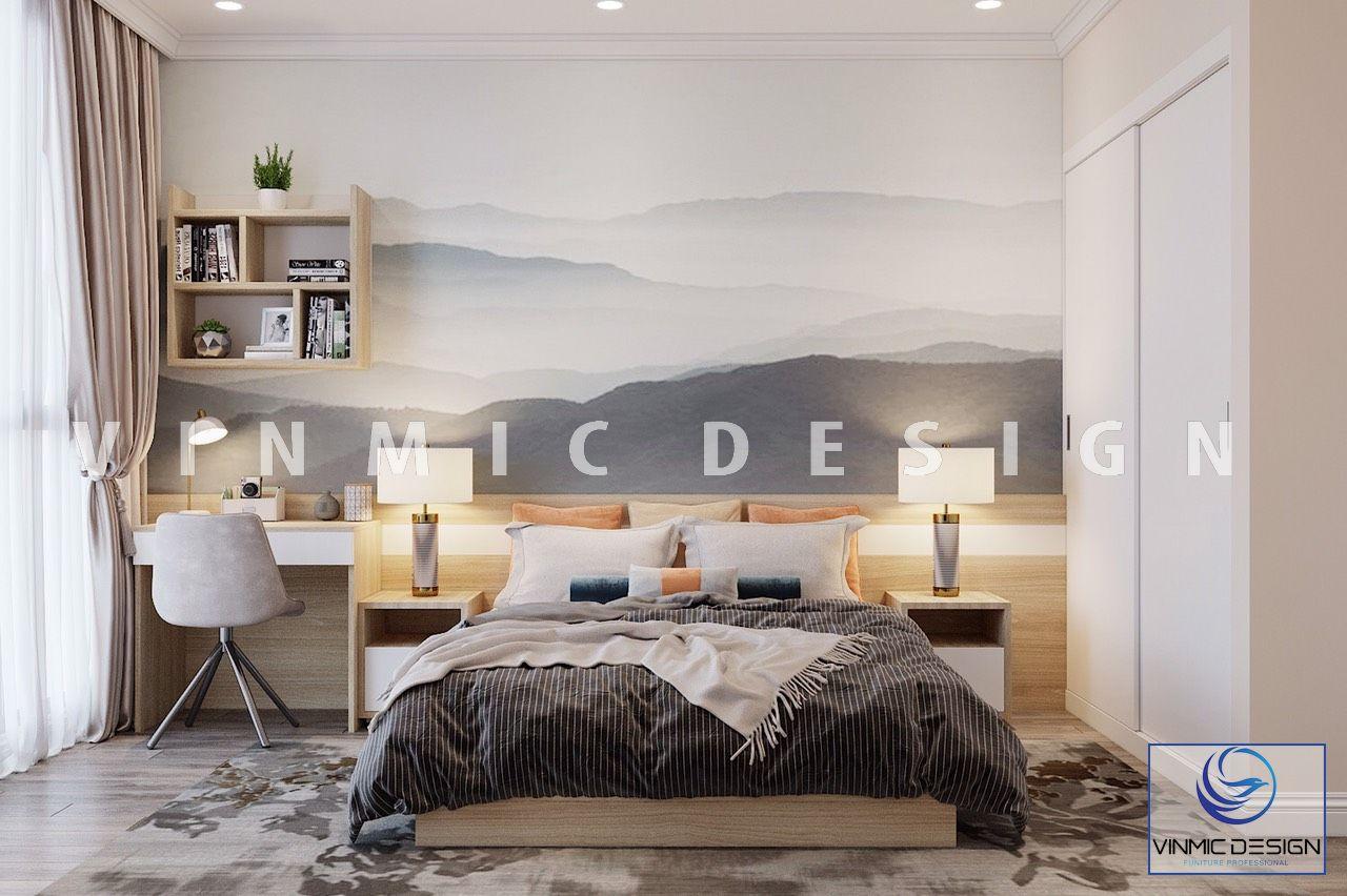 Thiết kế nội thất phòng ngủ với tone màu trẻ trung, đẹp mắt