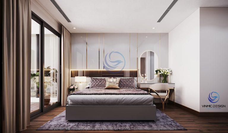 Thiết kế nội thất phòng ngủ trang nhã, sang trọng