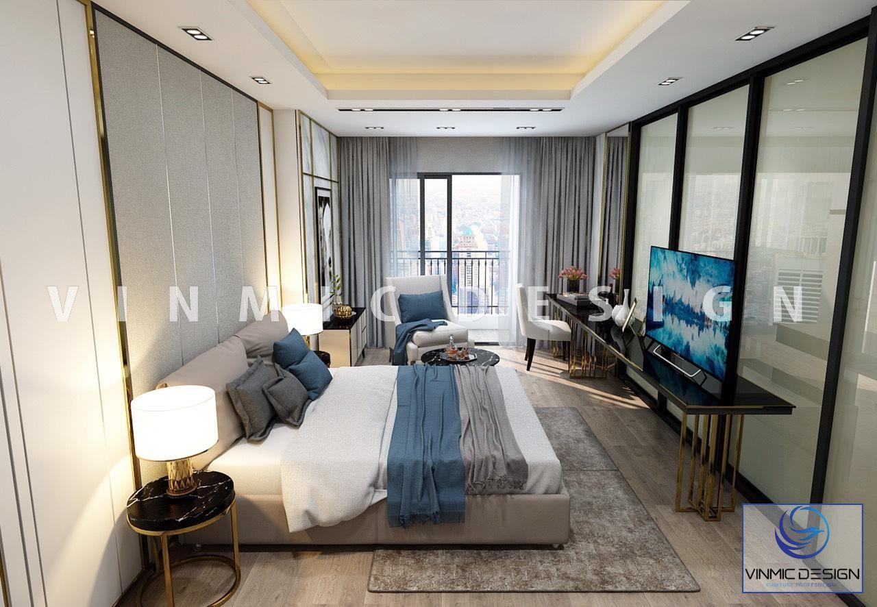 Thiết kế nội thất phòng ngủ master đẹp, tiện nghi nhà anh Huy