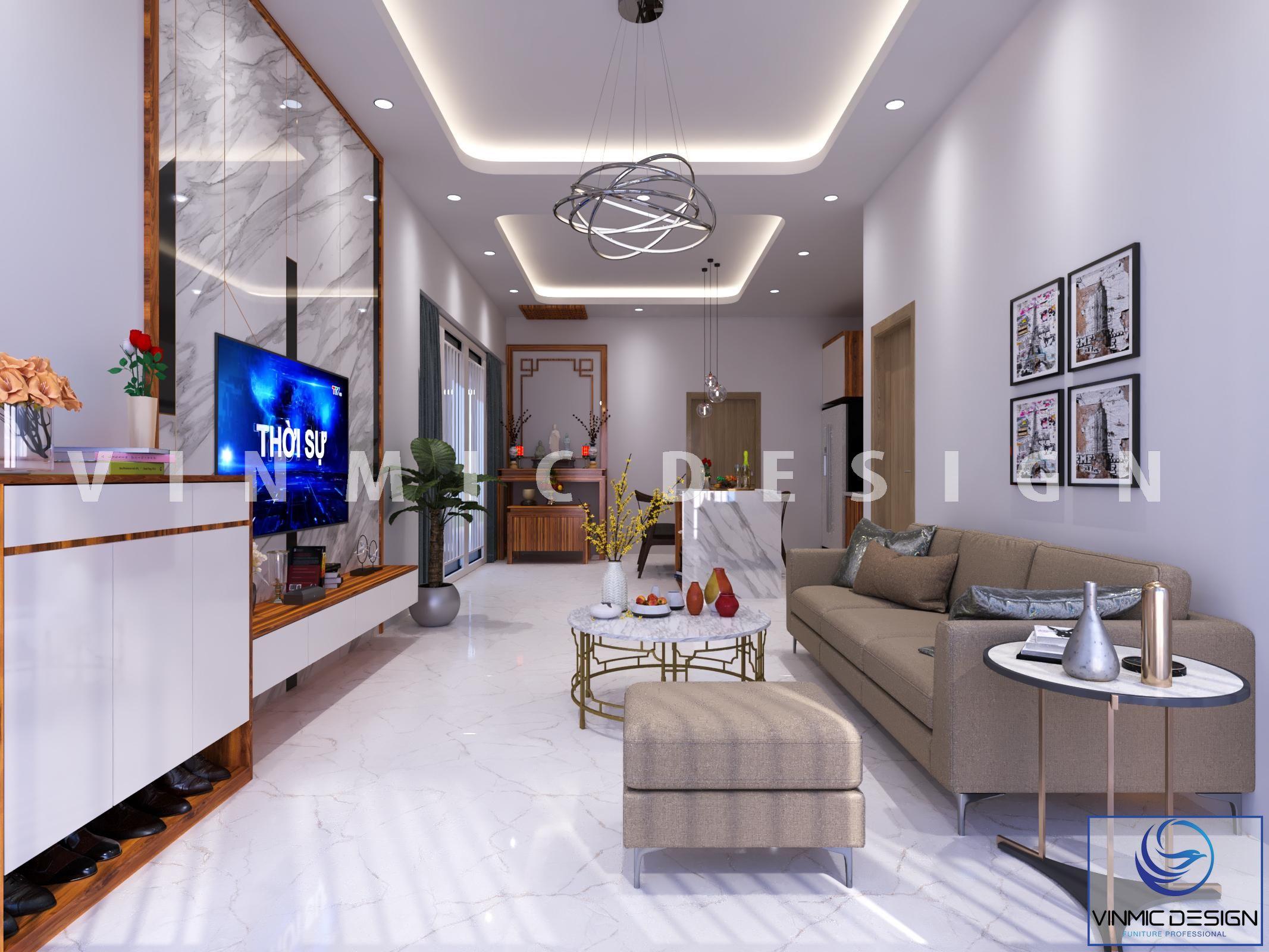 Thiết kế nội thất nhà vườn đẹp tại phố Kim Sơn – Ninh Bình