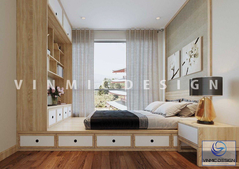 Thiết kế nội thất phòng ngủ phong cách Nhật Bản đẹp mắt