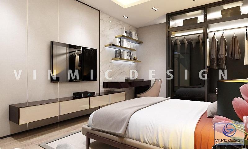 Thiết kế tủ áo đẹp mắt trong phòng ngủ