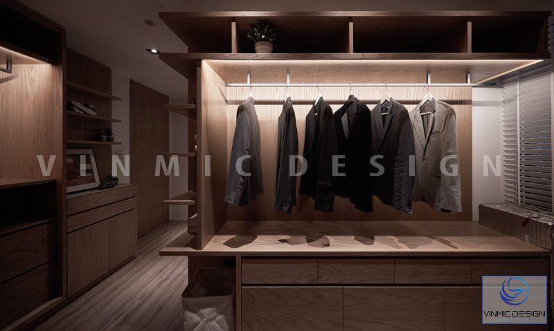 Thiết kế tủ áo không cánh tiện lợi