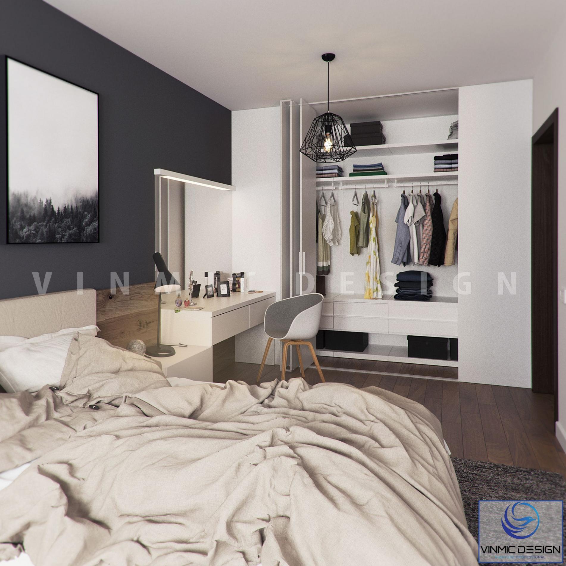 Thiết kế tủ áo hiện đại tiện ích