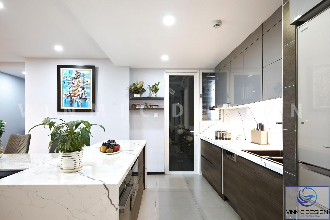 Thi công tủ bếp hiện đại, đẹp mắt