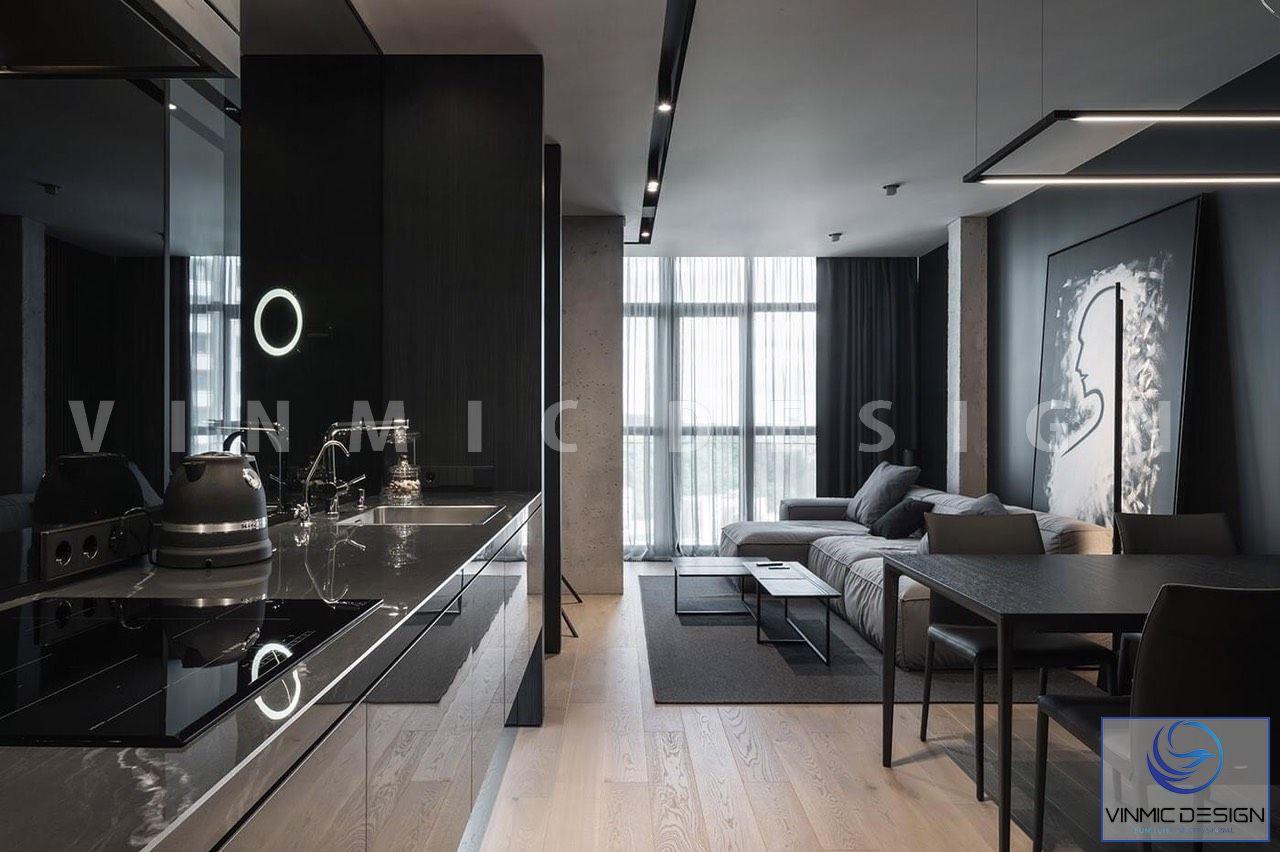 Thiết kế phòng khách tận dụng cửa sổ lớn lấy ánh sáng thiên nhiên
