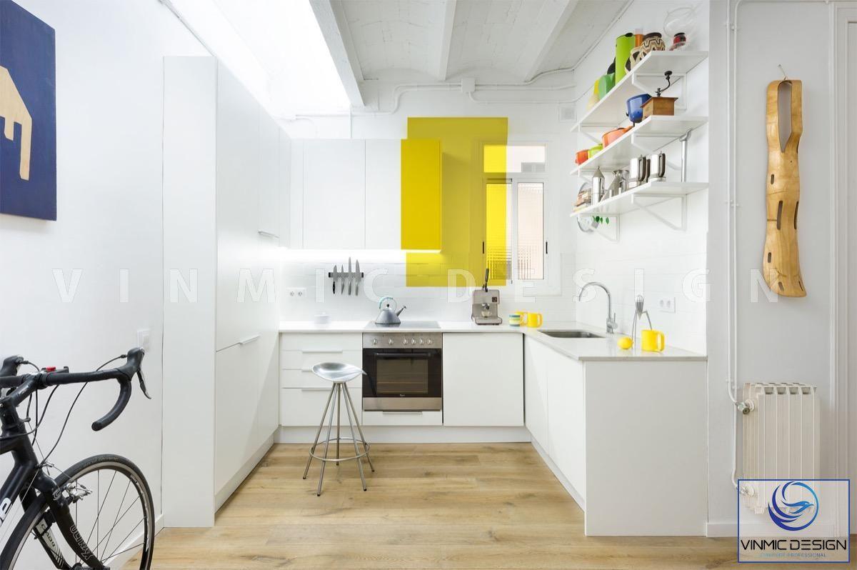 Thiết kế tủ bếp scandinavian với diện tích khiêm tốn