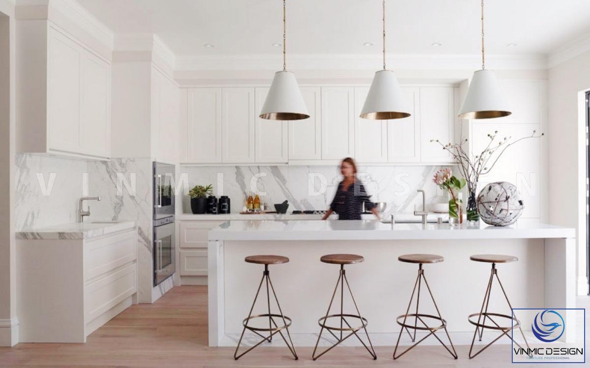 Thiết kế tủ bếp phong cách scandinavian tiện ích