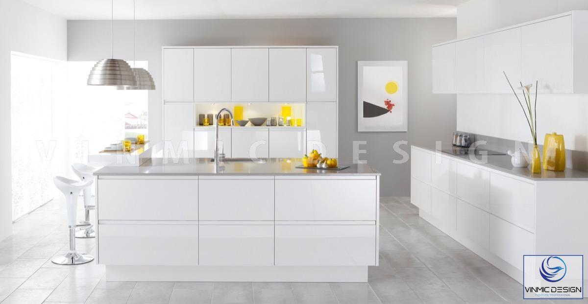 Phòng bếp scandinavian đơn giản nhưng rất tiện ích