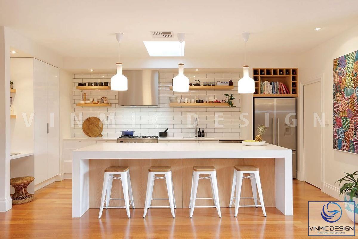 Không gian bếp mới lạ, tạo điểm nhấn cho căn hộ