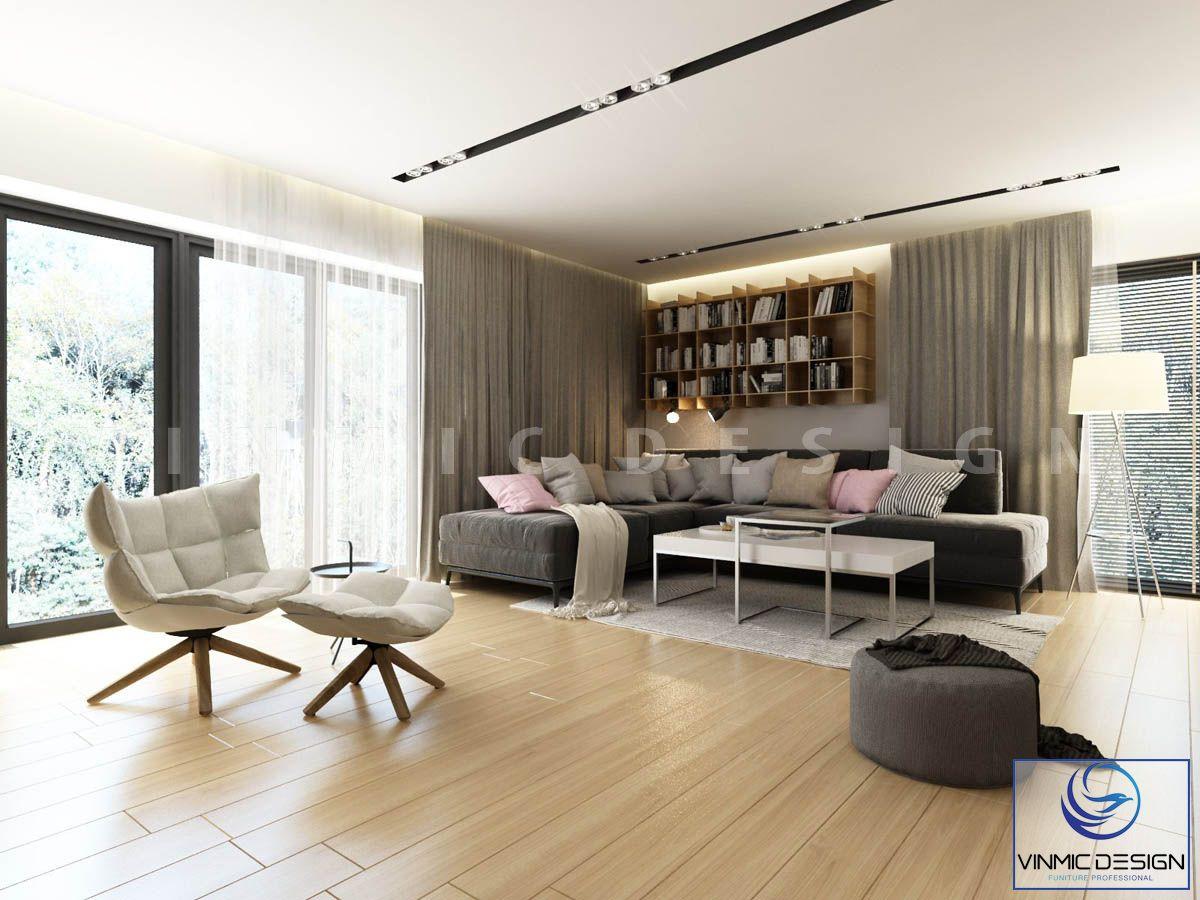 Phong cách hiện đại của một gian nhỏ của phòng khách biệt thự