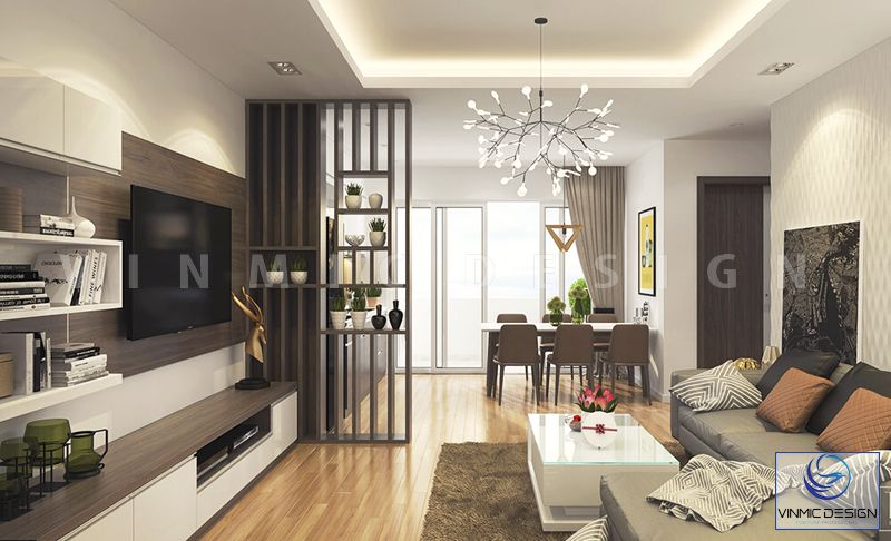 Thiết kế phòng khách đơn giản dễ nhìn