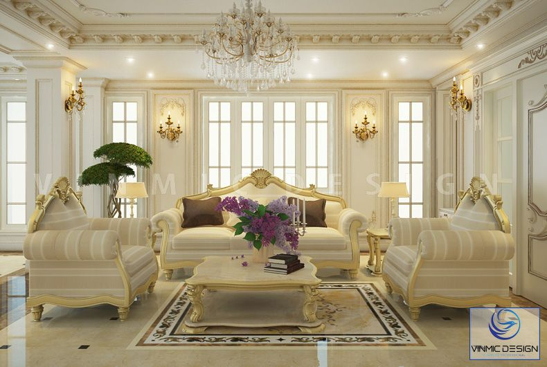 Những ánh đèn lung linh cho một phòng khách biệt thự
