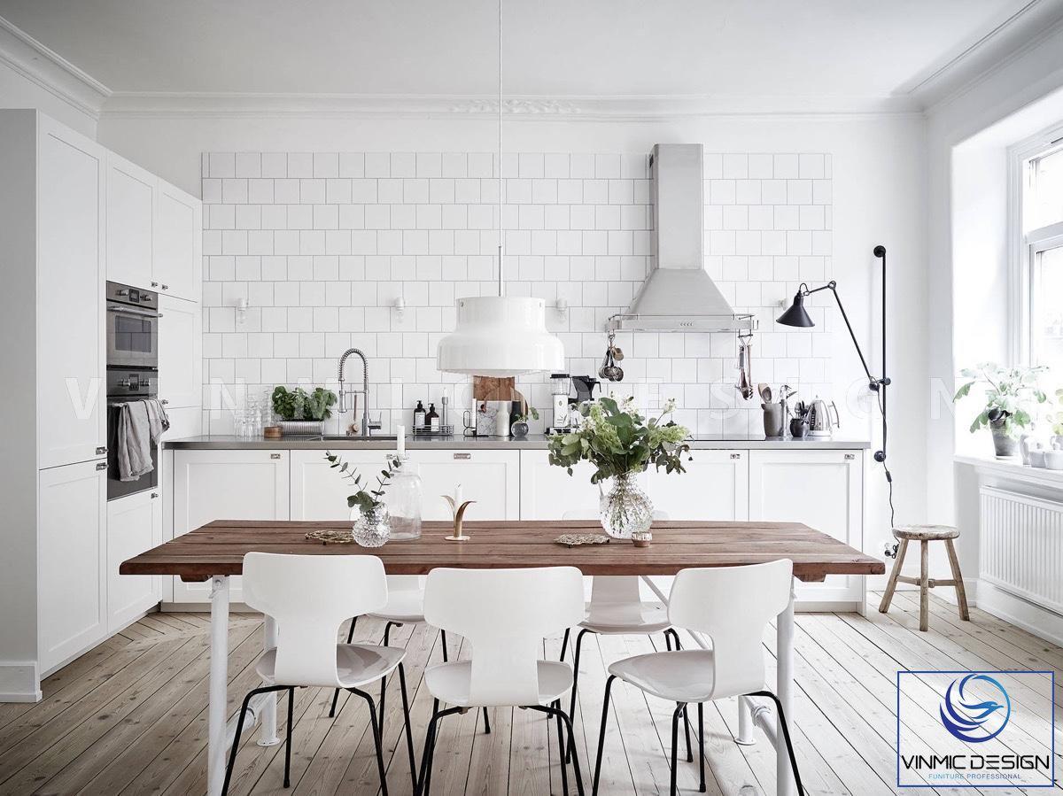 Thiết kế tủ bếp scandinavian tận dụng hết công năng sử dụng