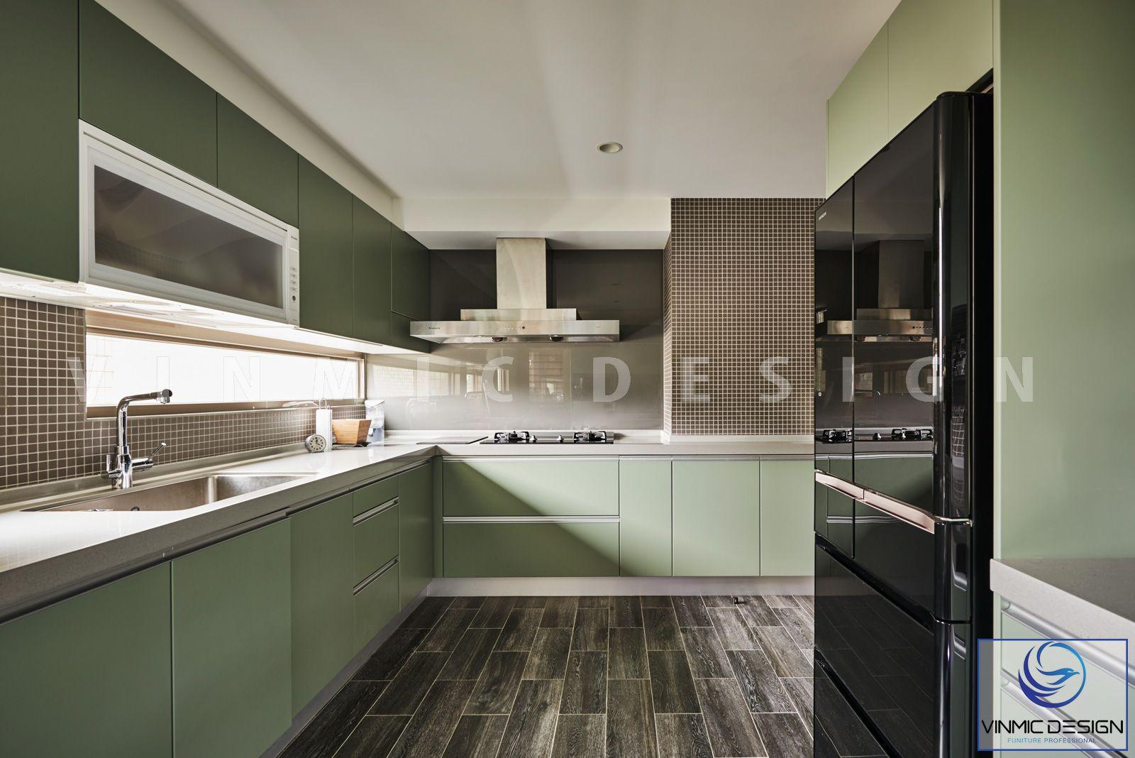 Mẫu thiết kế tủ bếp hiện đại với phong cách chữ L