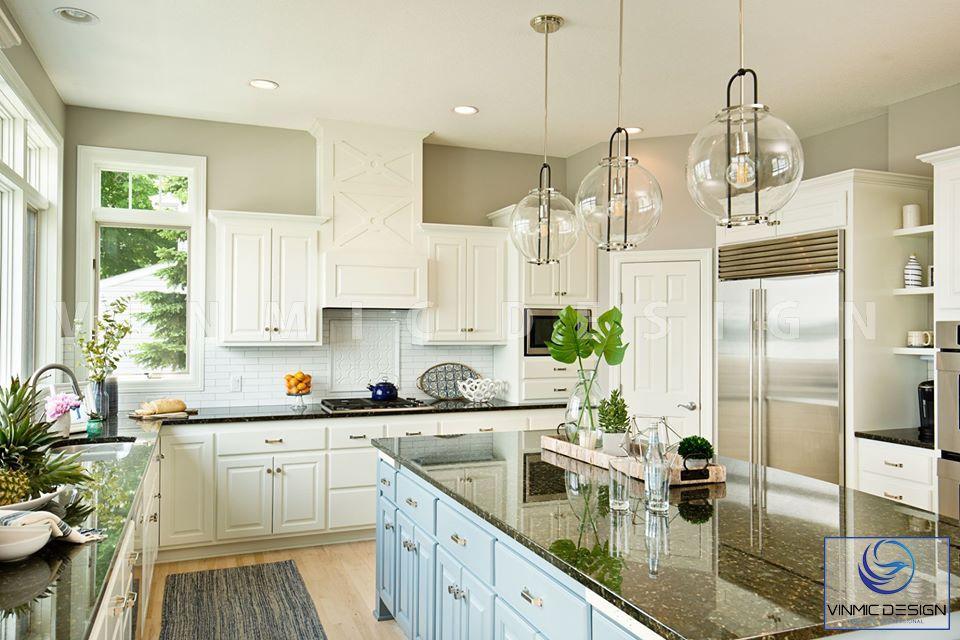 Tủ bếp sang trọng, đẹp mắt qua cách thiết kế tân cổ