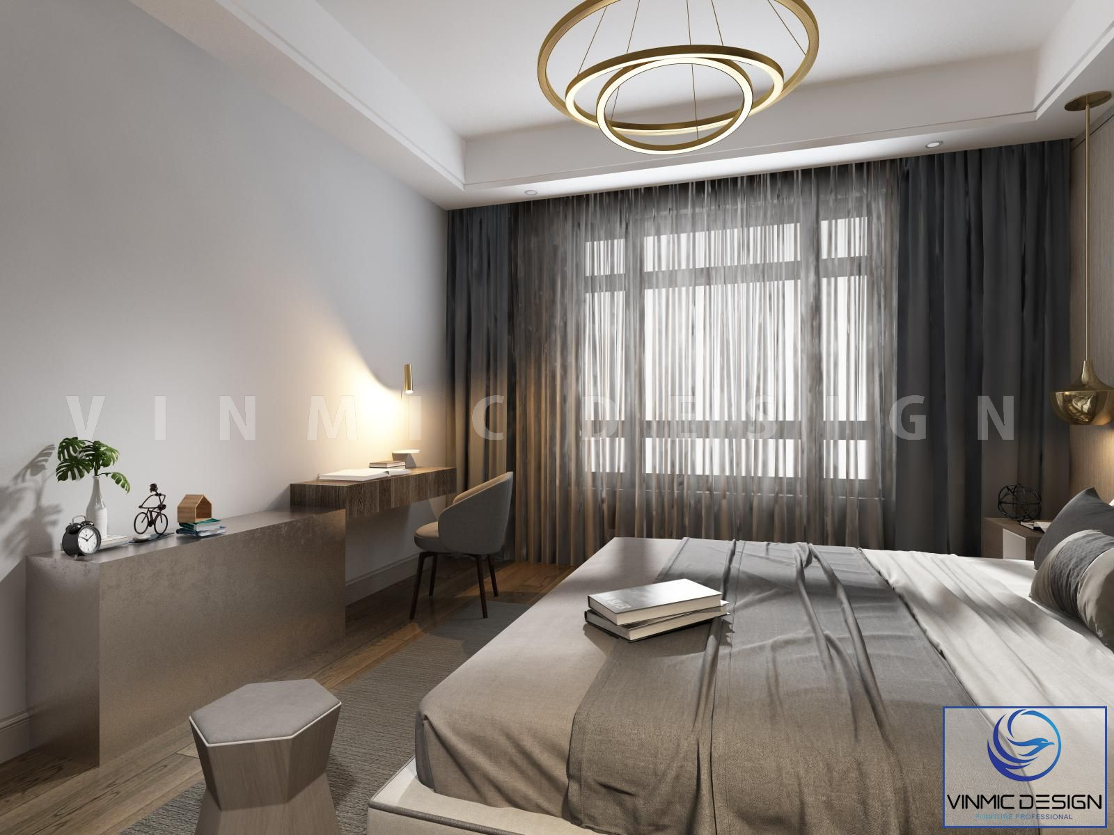 Không gian phòng ngủ đầy riêng tư