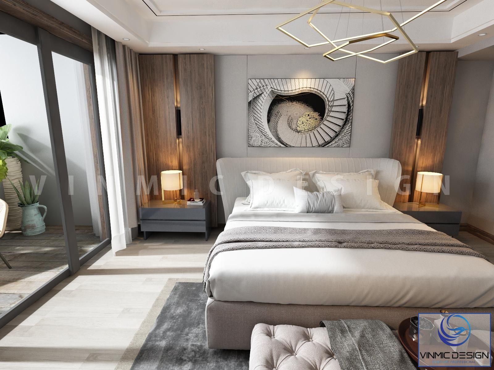Thiết kế phòng ngủ với bộ giường đẳng cấp
