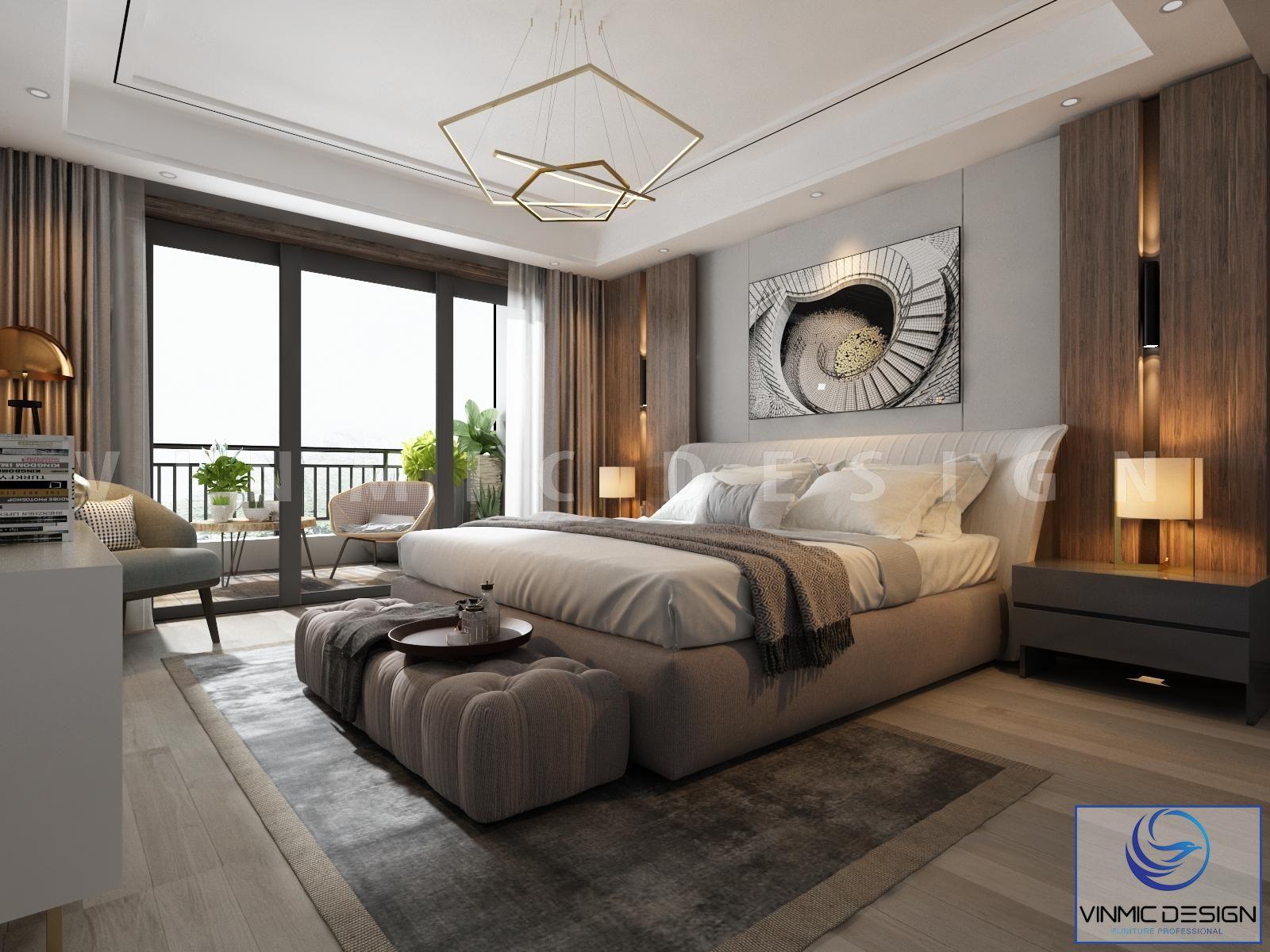 Thiết kế nội thất phòng ngủ được tận dụng ánh sáng từ thiên nhiên