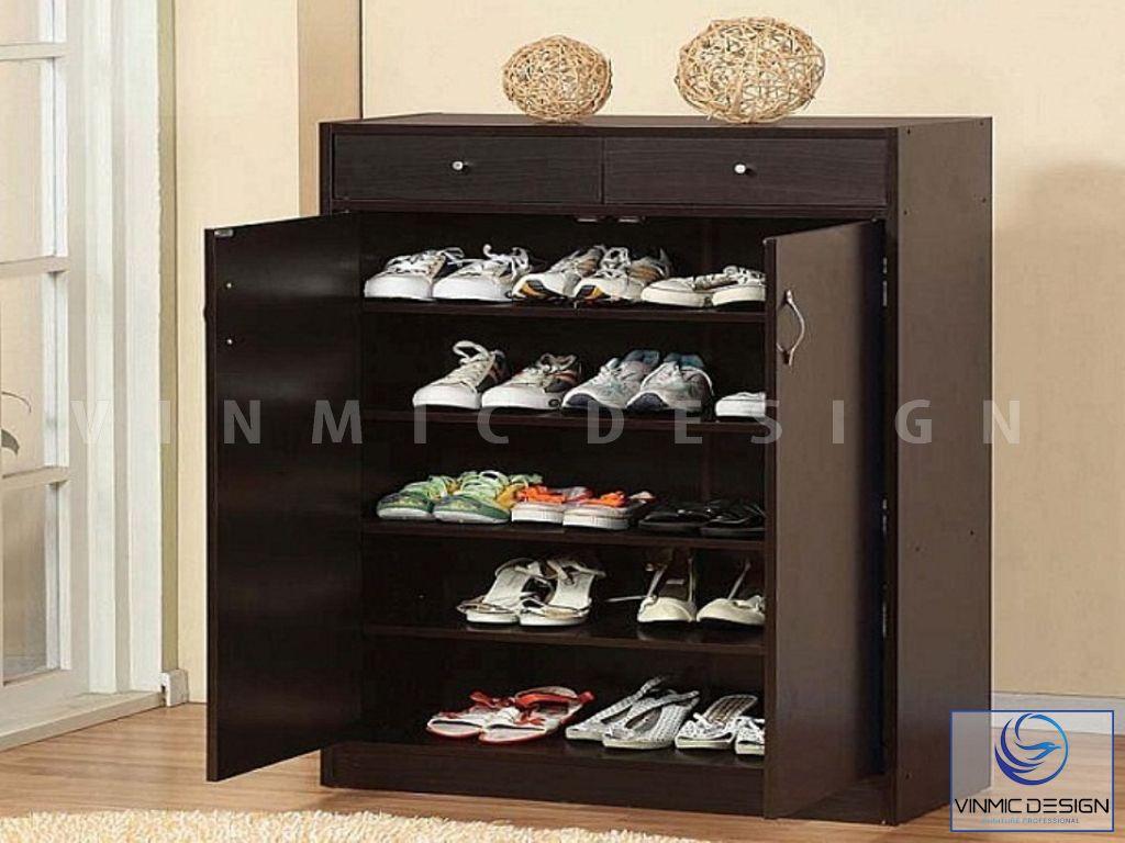 Phong cách thiết kế tủ giày tiết kiệm diện tích