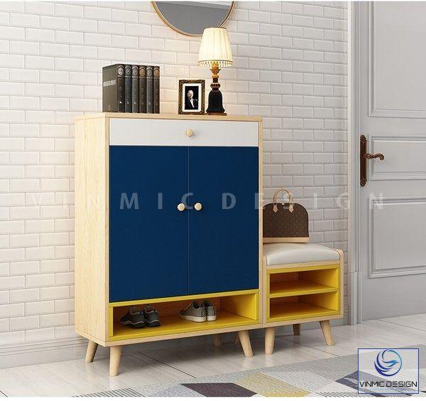 Tủ giày đơn giản, sử dụng bằng chất gỗ công nghiệp