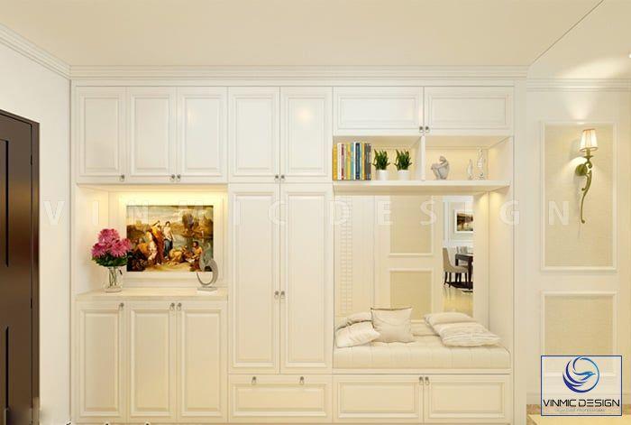 Thiết kế tủ giày kết hợp với đồ trang trí đẹp mắt
