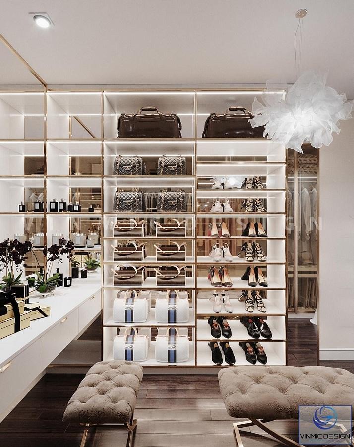 Tủ giày mang phong cách hiện đại, đẹp mắt