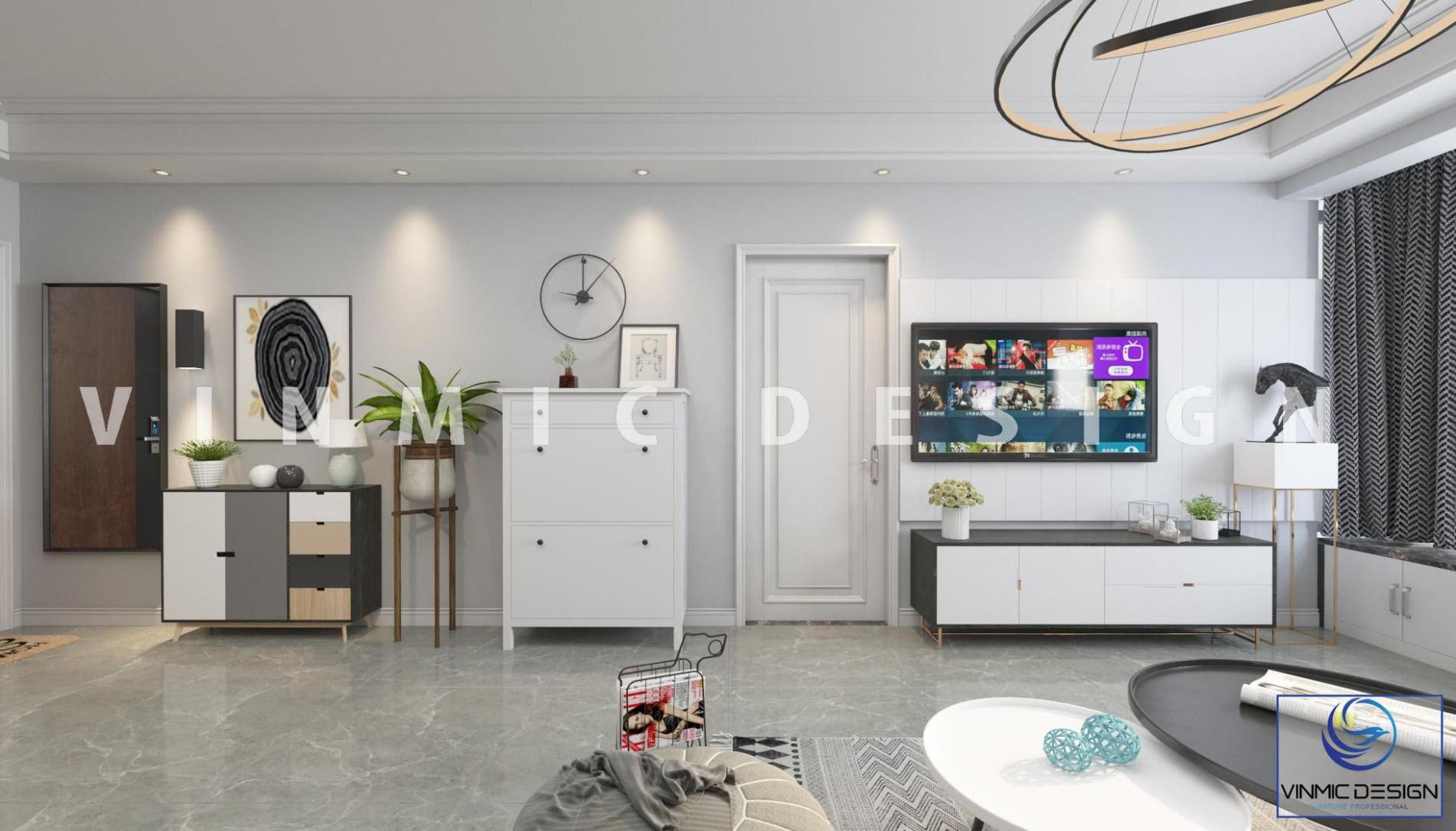 Các chi tiết nội thất phòng khách đơn giản hiện đại