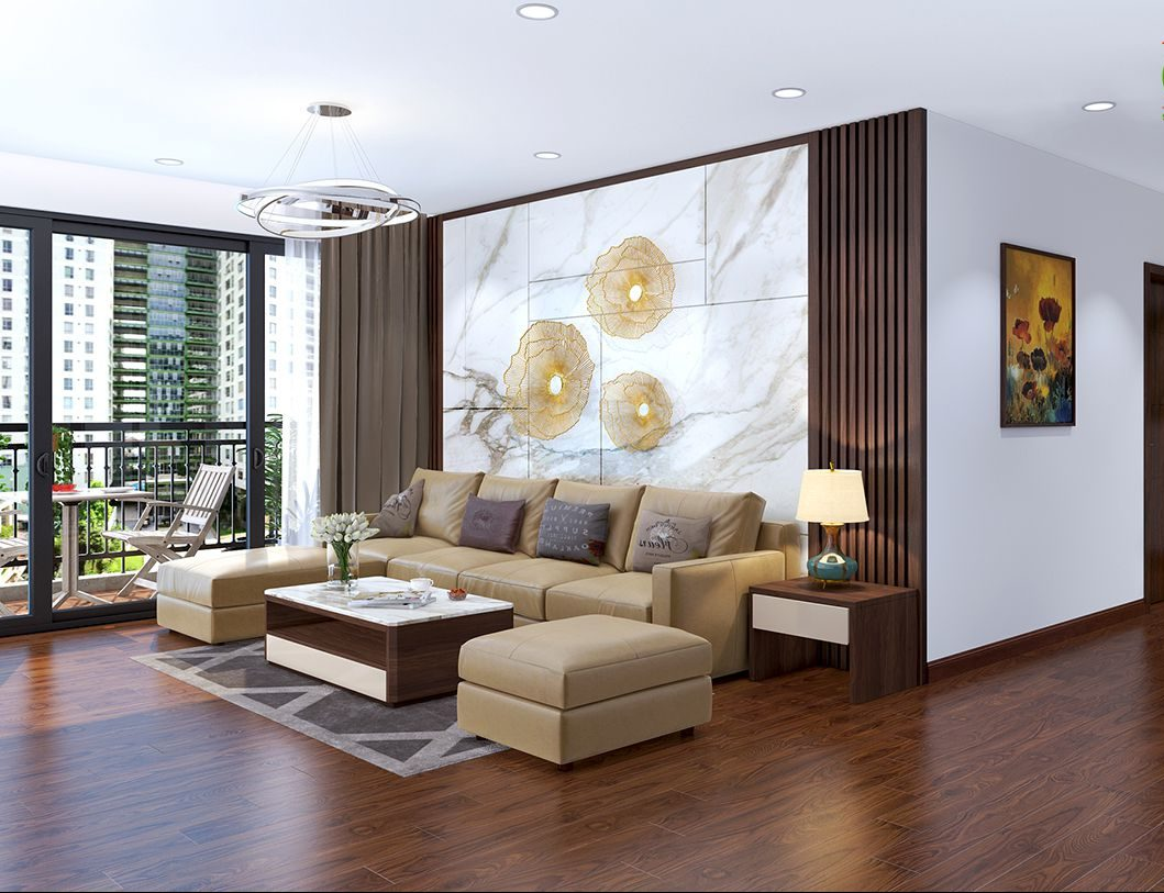 Thiết kế nội thất phòng khách không gian mở