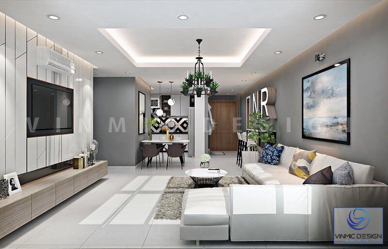 Không gian thoáng mát hiện đại của phòng khách