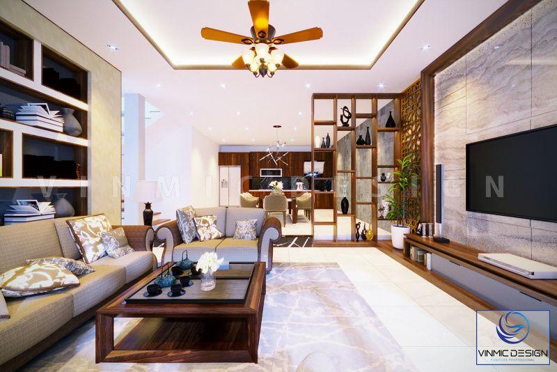Phòng khách được thiết kế đẳng cấp