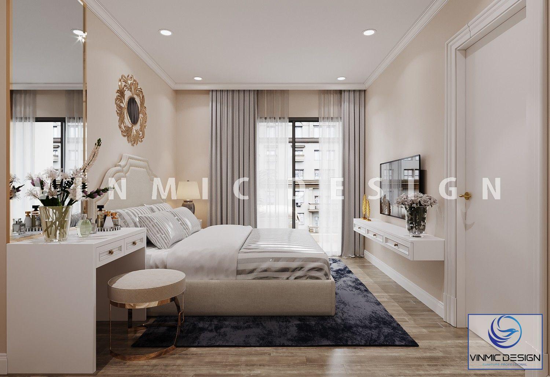 Phòng ngủ phong cách tân cổ điển sang trọng