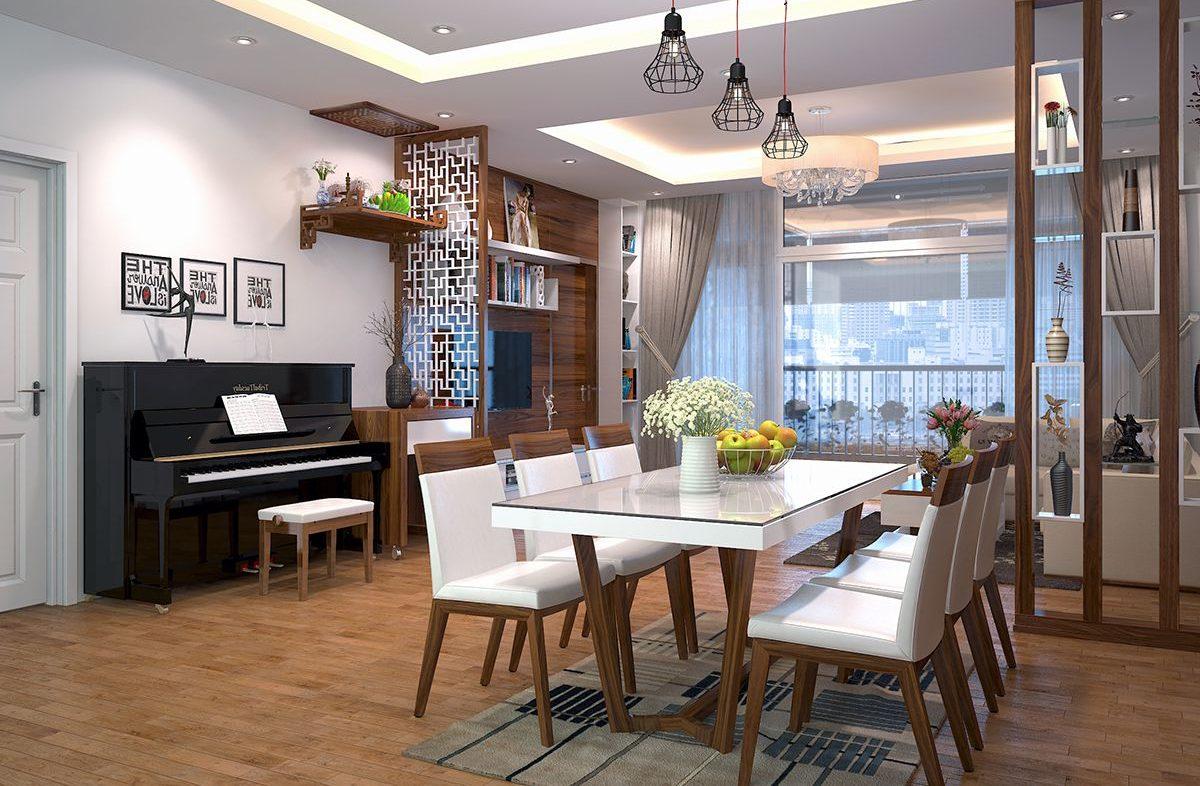 Thiết kế phòng khách-bếp đầy tiện nghi, tông màu sáng tạo ra không gian rộng rãi